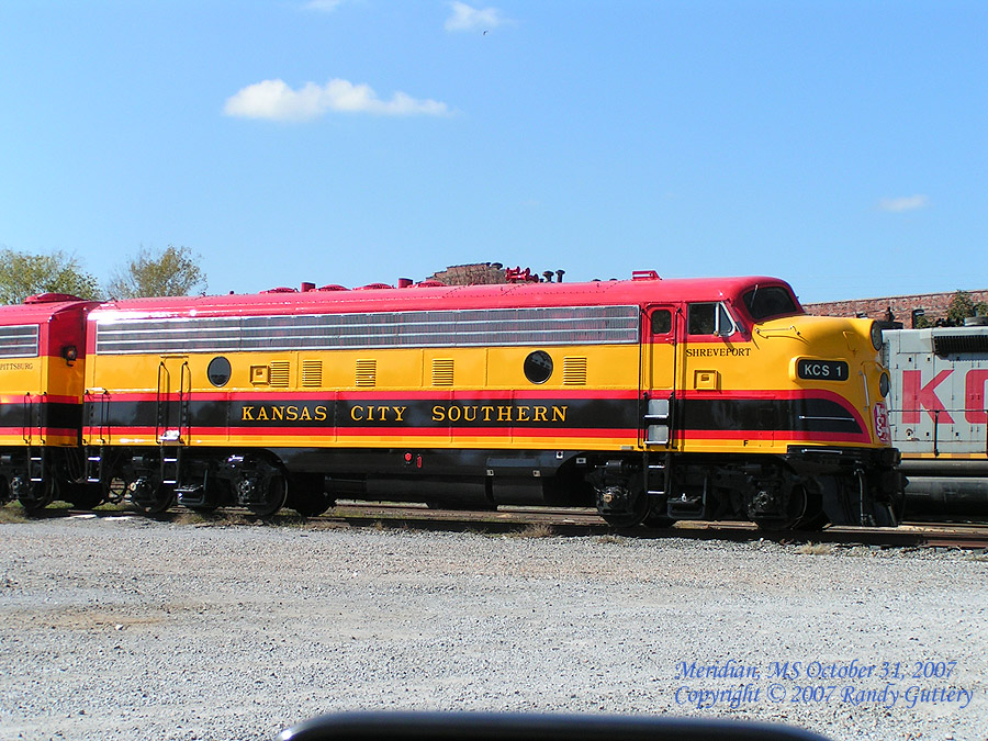 Kansas City Southern EMD  F Unit KCS1 Shreveport