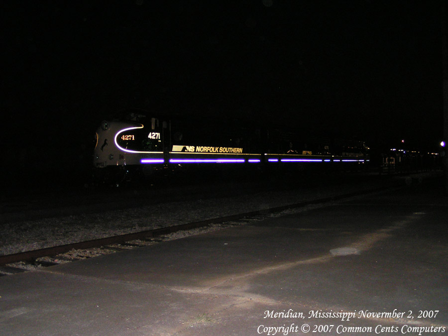 Norfolk Southern F Unit 4271 Night Meridian, MS