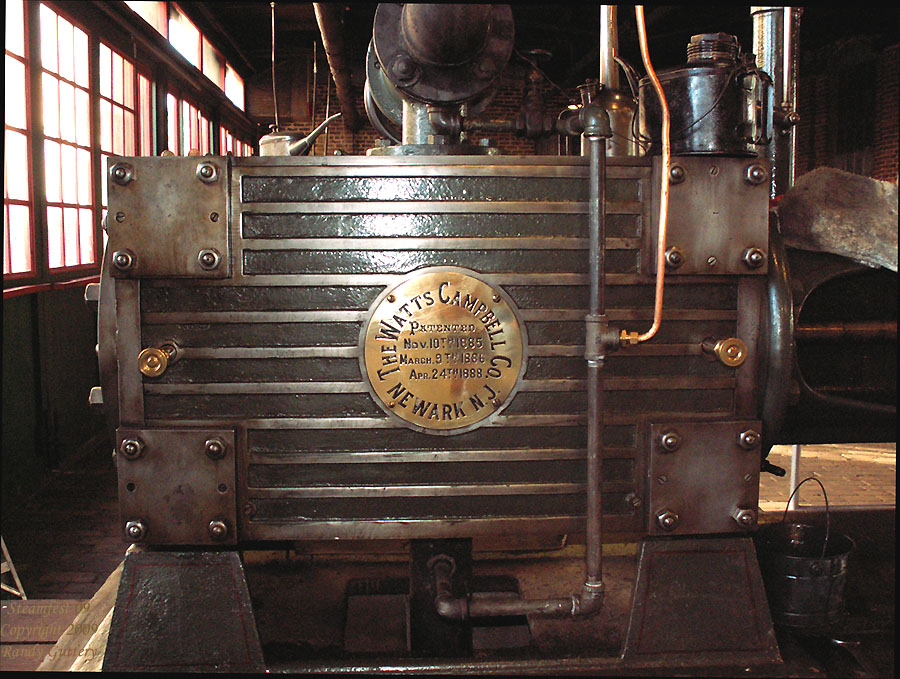 "Watt Campbell ""Corliss"" engine - cylinder Soule Live Steam Festival Meridian, MS 2009"