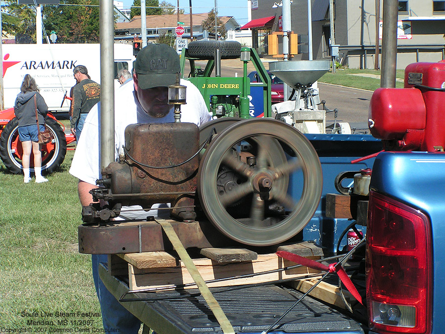 "Gas ""Hit and Miss"" Engine - Soule Live Steam Festival Meridian, MS 2007"