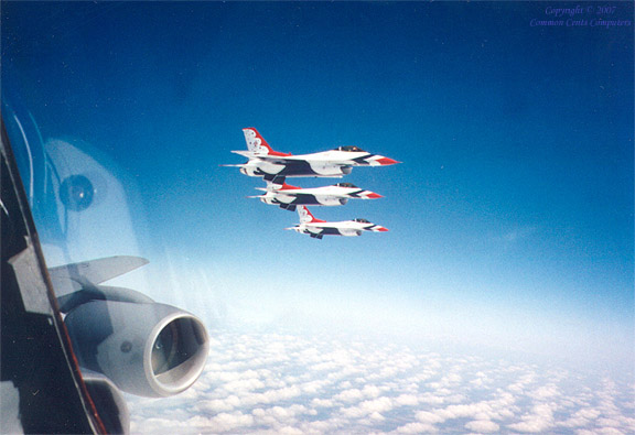 Thunderbirds mid-air refueling, meridian, ms