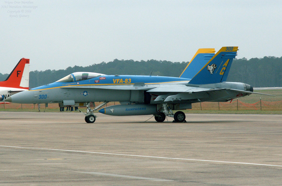 Rampagers FA-18 Hornet in dress uniform