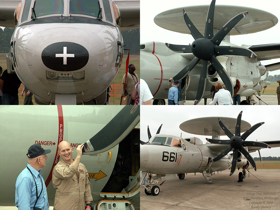 Navy E-2C Hawkeye - 8-bladed propeller.