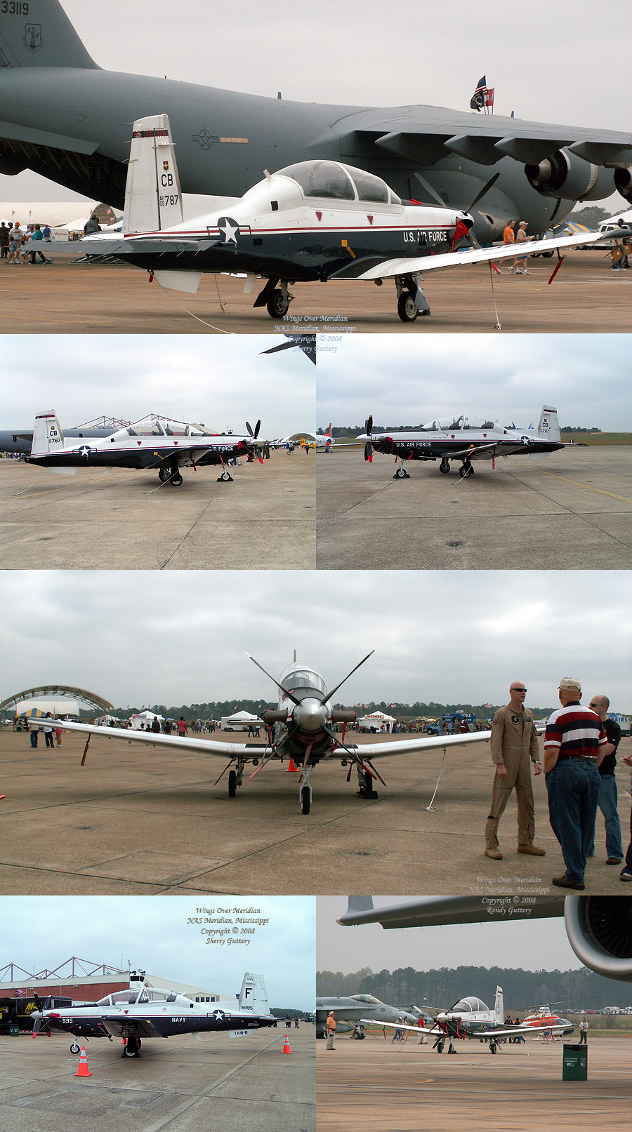 T-6A Texan II - both in Navy and Air Force markings.