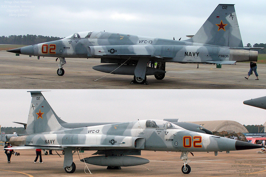 "US Navy version of the F-5E. This plane is part of the TOPGUN ""aggressor squadron""."