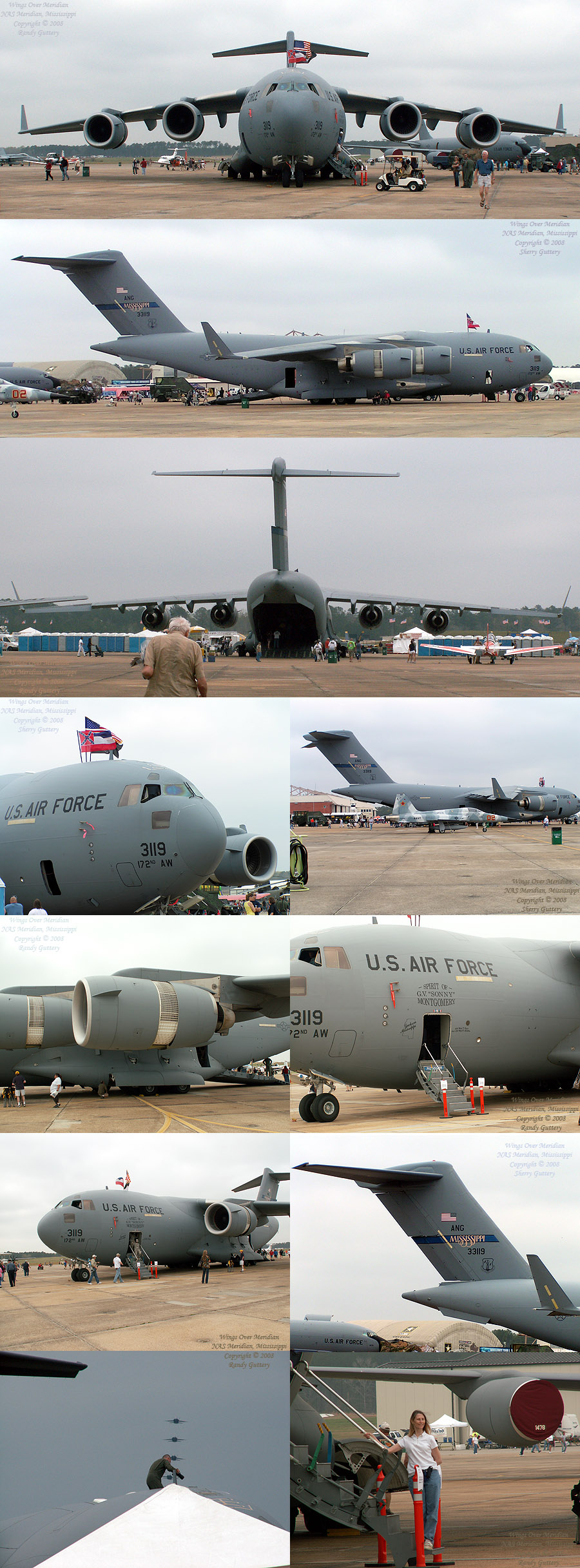 C-17 Globemaster III. Capable of 170,000 pound cargo loads.